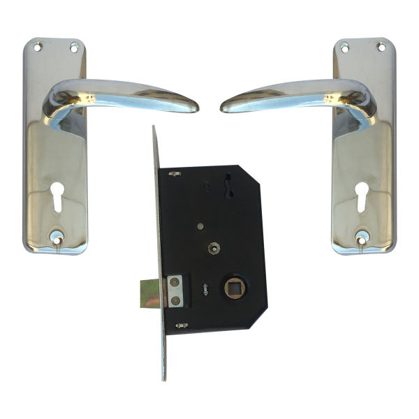دستگیره در نوین مدل 901 بسته 2 عددی به همراه قفل