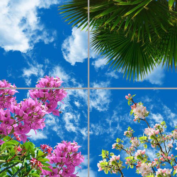 تایل سقفی آسمان مجازی مدل AY22013 سایز 60*60 مجموعه چهار عددی