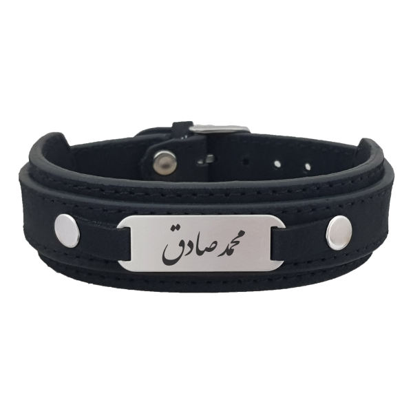 دستبند نقره مردانه ترمه ۱ مدل محمد صادق کد Dcsf0227