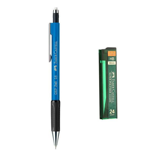 مداد نوکی 0.5 میلی متری فابر کاستل مدل Grip 1345 به همراه نوک