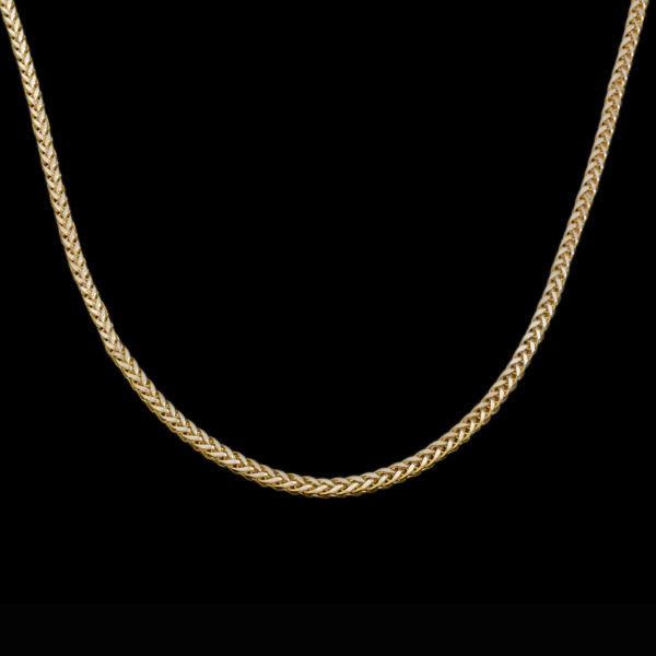 زنجیر طلا 18 عیار زنانه طلای مستجابی مدل میرو کد M05