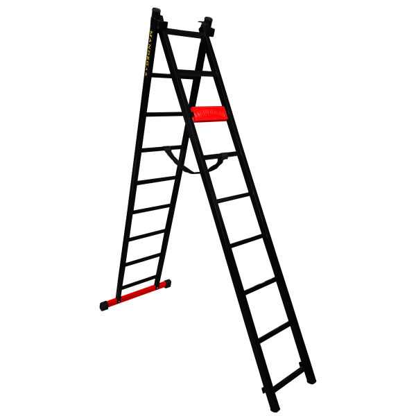 نردبان 18 پله ماندگار مدل پارس به همراه پایه تعادل