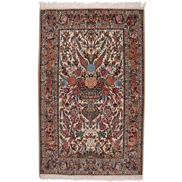 فرش دستبافت دو و نیم متری طرح گلدانی مدل اصفهان کد 140239