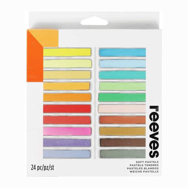 پاستل گچی 24 رنگ ریوز مدل Soft