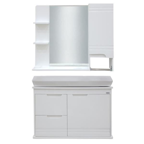 ست کابینت و روشویی فوکا کد A101 به همراه آینه و باکس