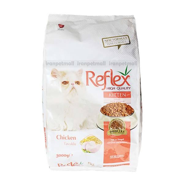 غذای خشک بچه گربه رفلکس مدل kitten وزن 3 کیلوگرم