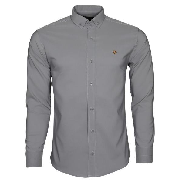 پیراهن آستین بلند مردانه مدل bn02 رنگ طوسی غیر اصل