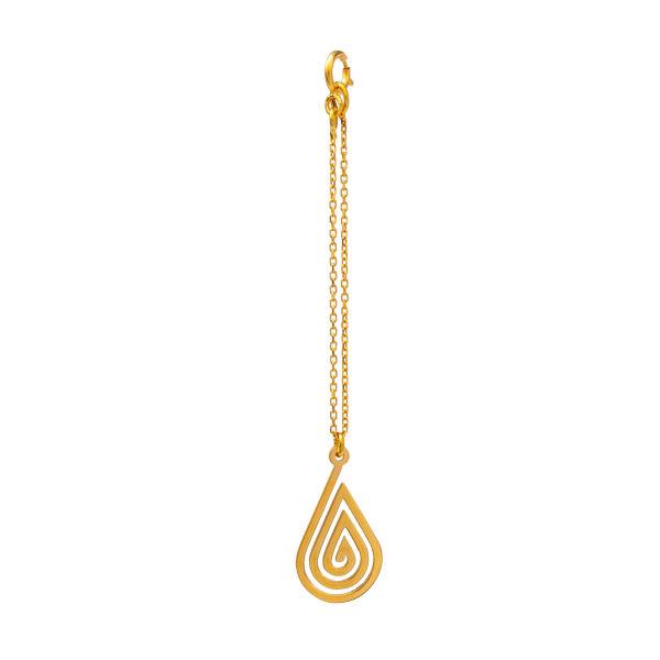 آویز ساعت طلا ۱۸ عیار زنانه دُرج مدل DZ01