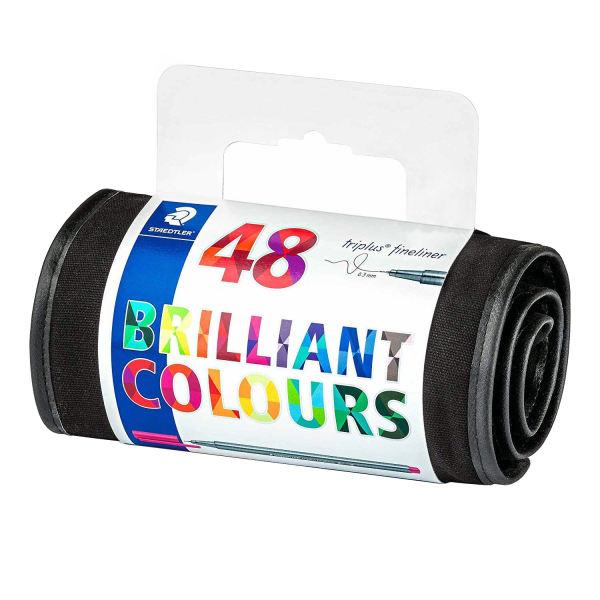 روان نویس استدلر کد 334RU48 مدل Triplus Fineliner Brilliant Colours بسته 48 عددی