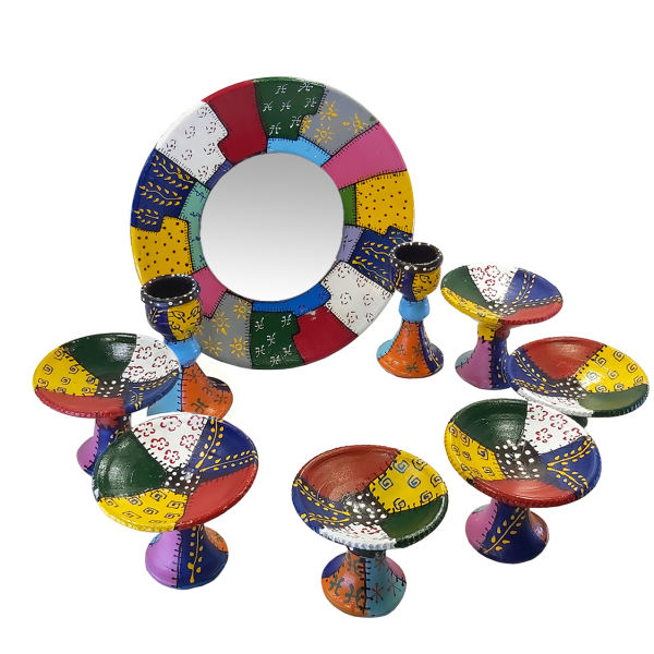 مجموعه 9 پارچه ظروف هفت سین مدل چهل تیکه کد HSS4003