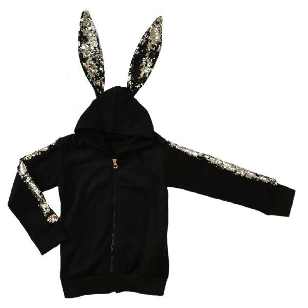 سویشرت دخترانه طرح خرگوش مدل NOG