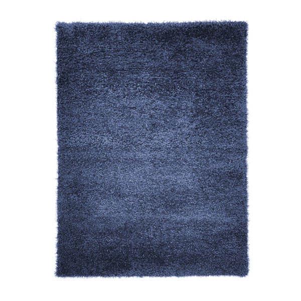فرش ماشینی مدل شگی کد 10052 زمینه سورمه ای
