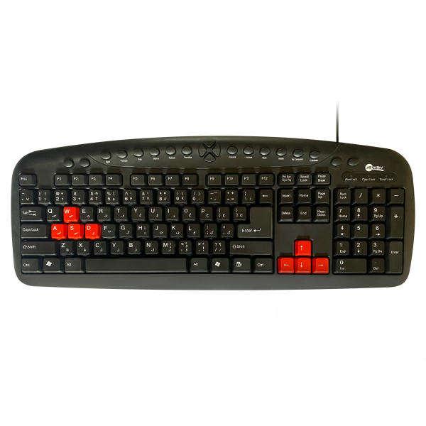 کیبورد مخصوص بازی جی وی مدل JK_8608S