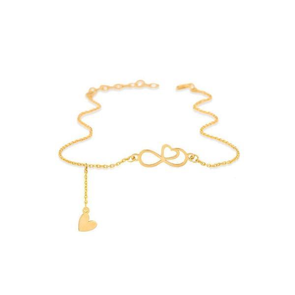 پابند طلا 18 عیار زنانه عدنان مدل UBN43