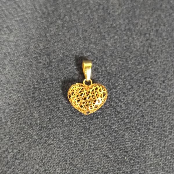 آویز گردنبند طلا 18 عیار زنانه قیراط طرح قلب کد GH432