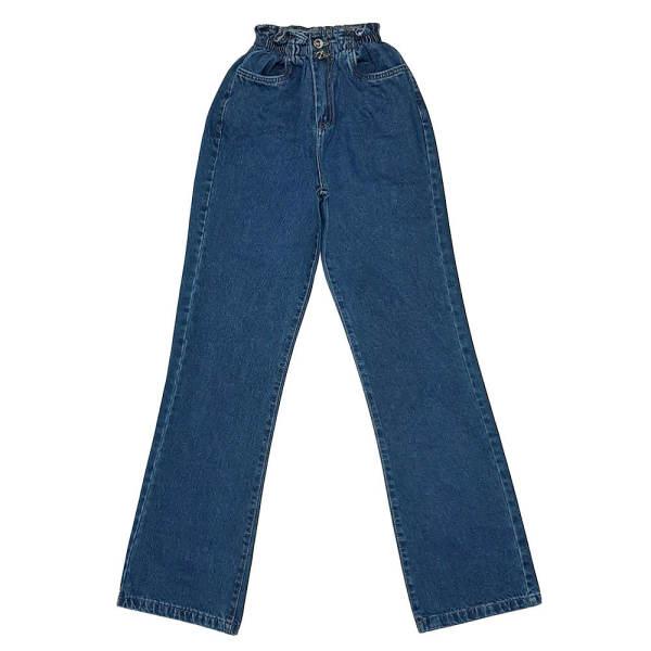 شلوار جین زنانه مدل بگ کد H-BA-V