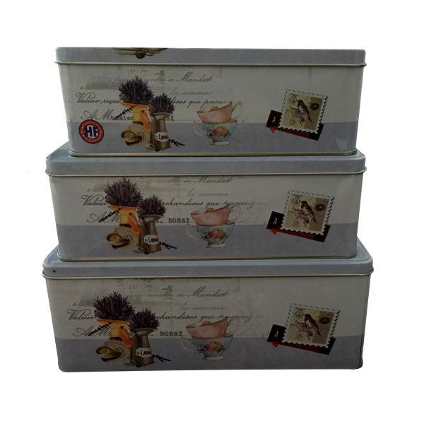 جعبه هدیه فلزی مدل فنجان کد 06 بسته 3 عددی