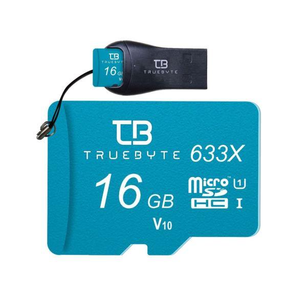 کارت حافظه microSD HC تروبایت مدل 633X-V10 کلاس 10 استاندارد UHS-I U1 ظرفیت 16 گیگابایت همراه با کارت خوان