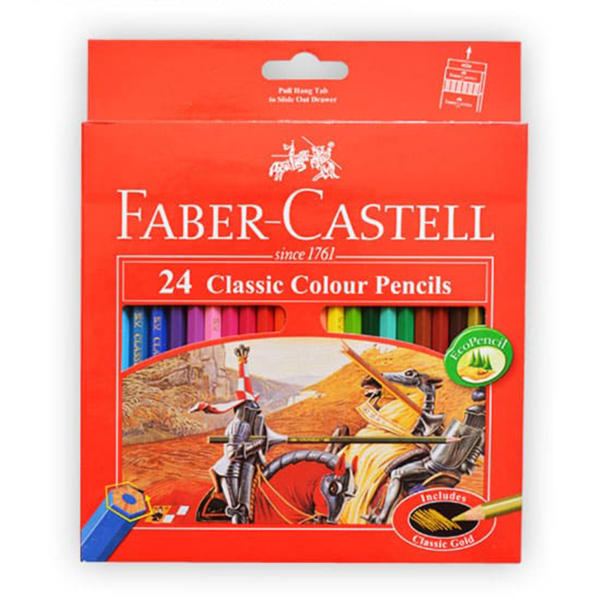 مداد رنگی 24 رنگ فابرکاستل مدل کلاسیک