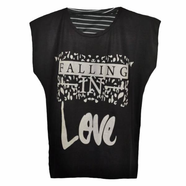 تی شرت آستین کوتاه زنانه مدل M-falling-BK