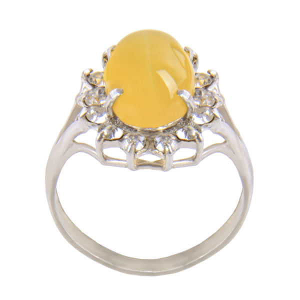 انگشتر نقره زنانه بازرگانی میلادی مدل عقیق شرف الشمس کد AW-004