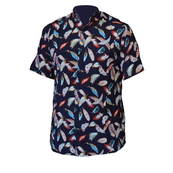 پیراهن آستین کوتاه مردانهطرح هاوایی مدل par4488