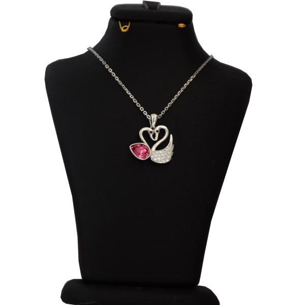 گردنبند نقره زنانه سواروسکی طرح قو کد NP 022