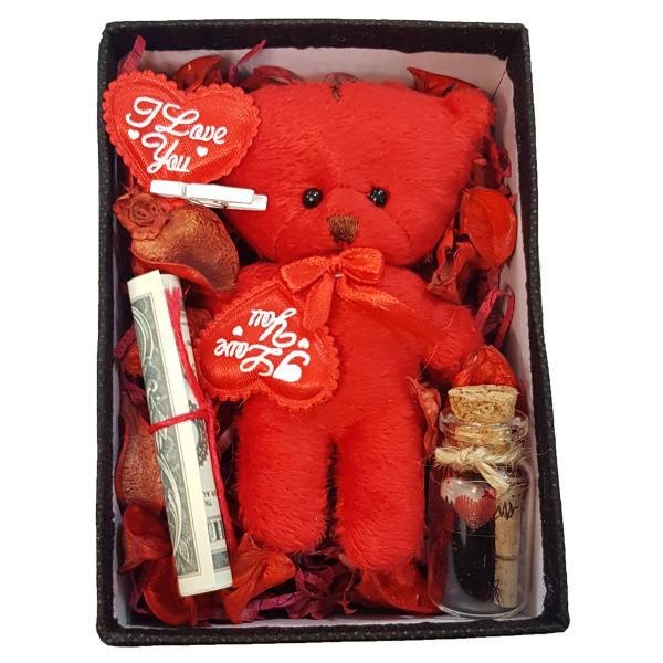 ست هدیه عروسک طرح خرس کد 02
