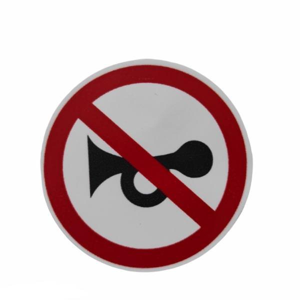 برچسب بدنه خودرو طرح بوق ممنوع کد 1095