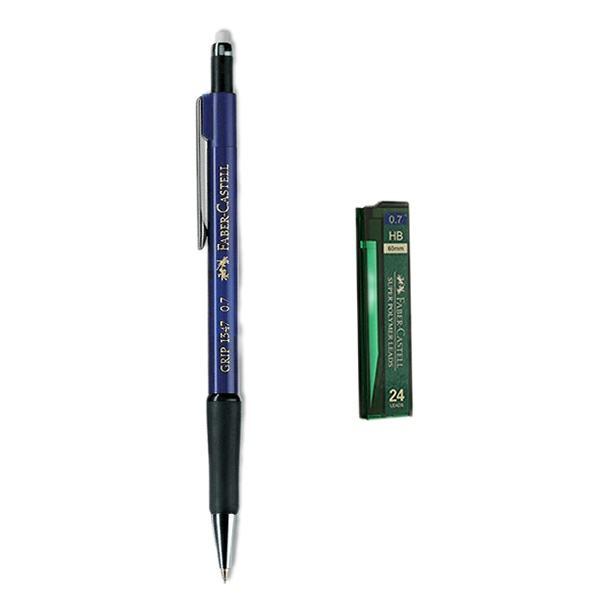 مداد نوکی 0.7 میلی متری فابر کاستل مدل Grip 1347 به همراه نوک