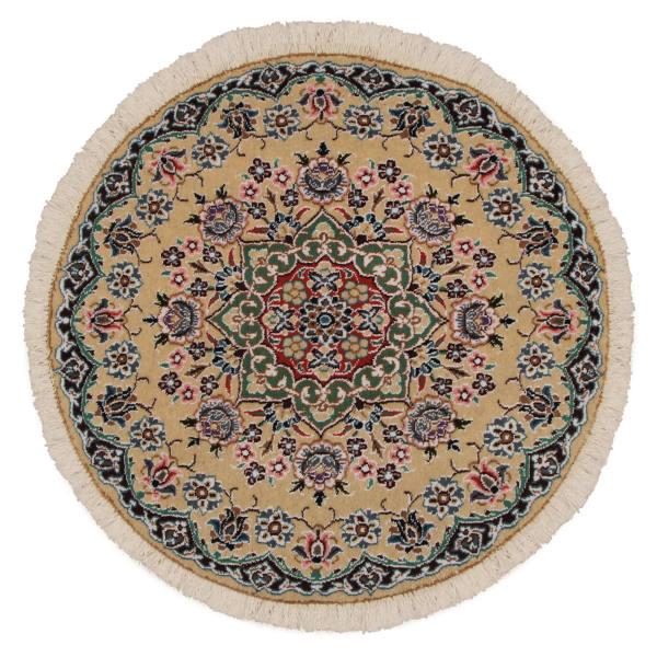 فرش دستبافت یک متری مدل دایره کد 990846