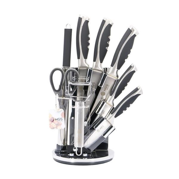 ست چاقو آشپزخانه 9 پارچه ام جی اس مدل 20-22