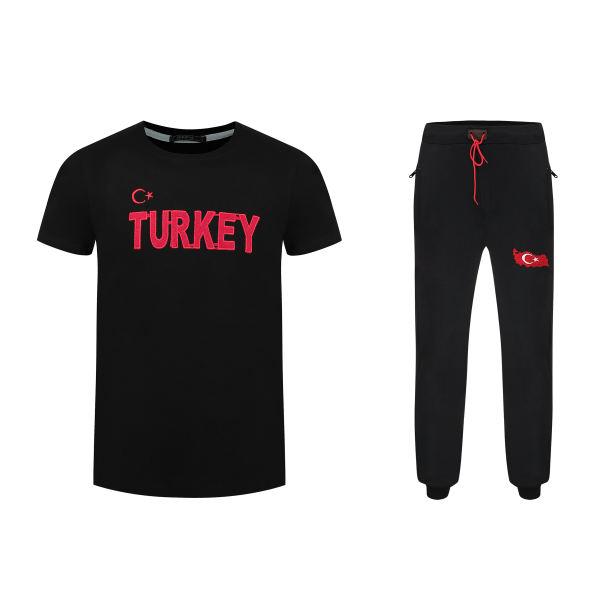 ست تی شرت و شلوار ورزشی مردانه مدل turkey BR