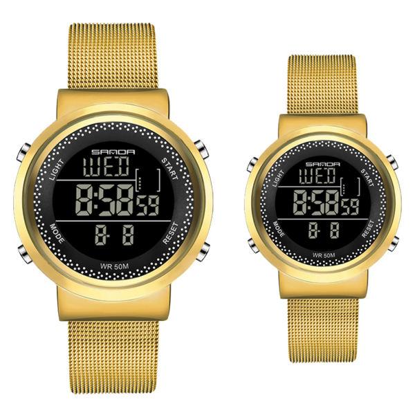 ست ساعت مچی دیجیتال زنانه و مردانه مدل SA 383-4 - TA غیر اصل