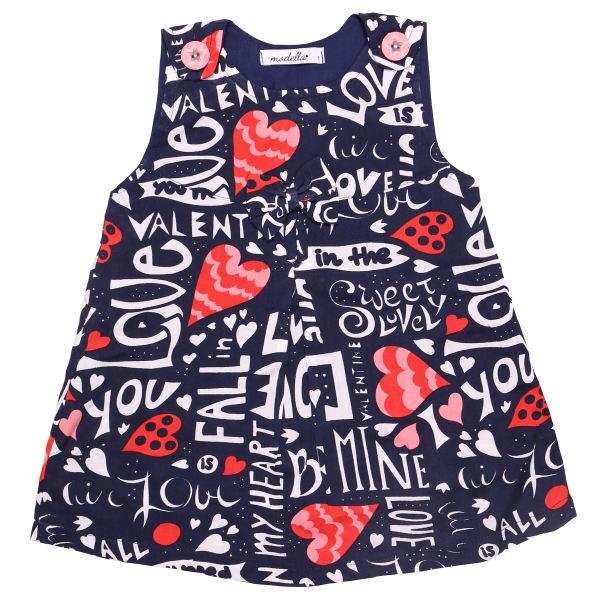پیراهن دخترانه مدلا طرح عشق کد LO101