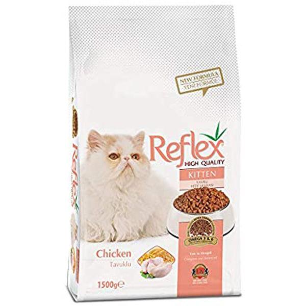 غذای خشک بچه گربه رفلکس مدل kitten وزن 1500گرم