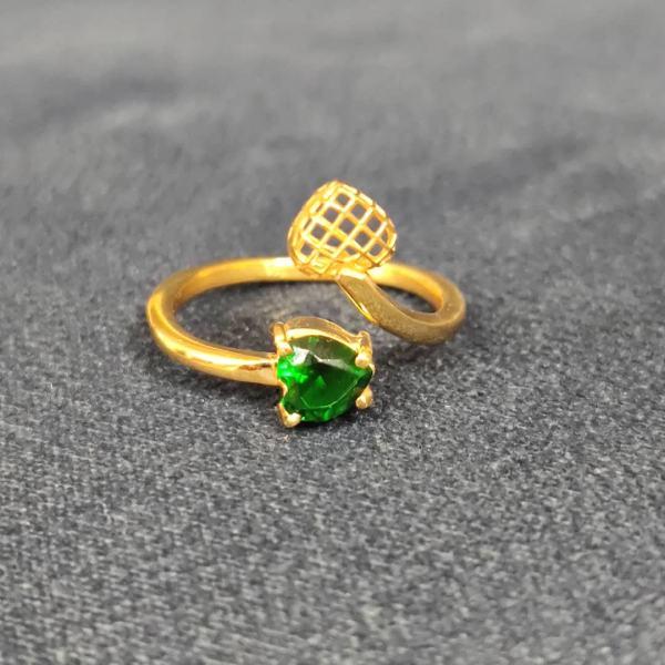 انگشتر طلا 18 عیار زنانه قیراط طرح قلب کد GH115