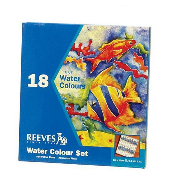 آبرنگ 18 رنگ ریوز مدل تیوپی