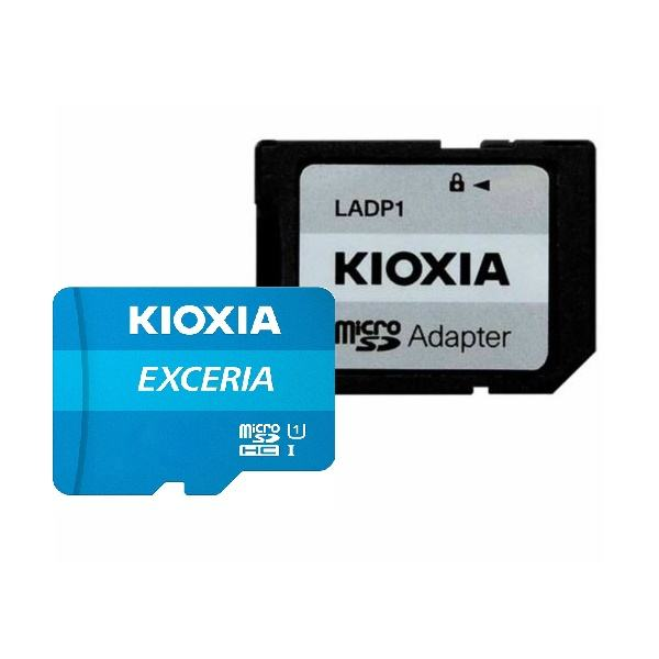 کارت حافظه microSDHC کیوکسیا مدل EXCERIA کلاس 10 استاندارد UHS-I U1 سرعت 100MBps ظرفیت 32 گیگابایت به همراه آداپتور SD