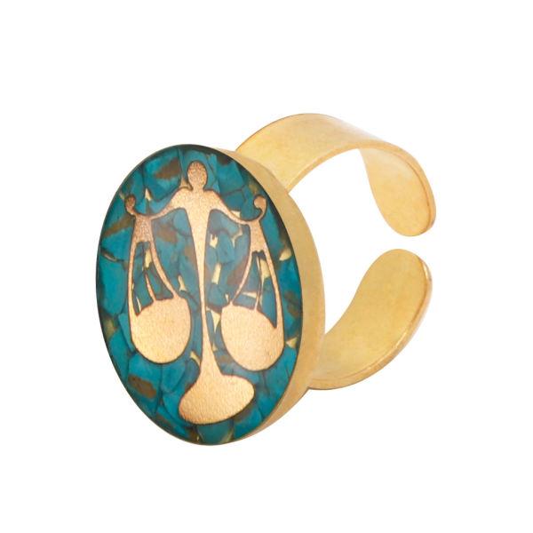 انگشتر طلا 24 عیار زنانهآلتین هنر طرح نماد مهر کد 100073F