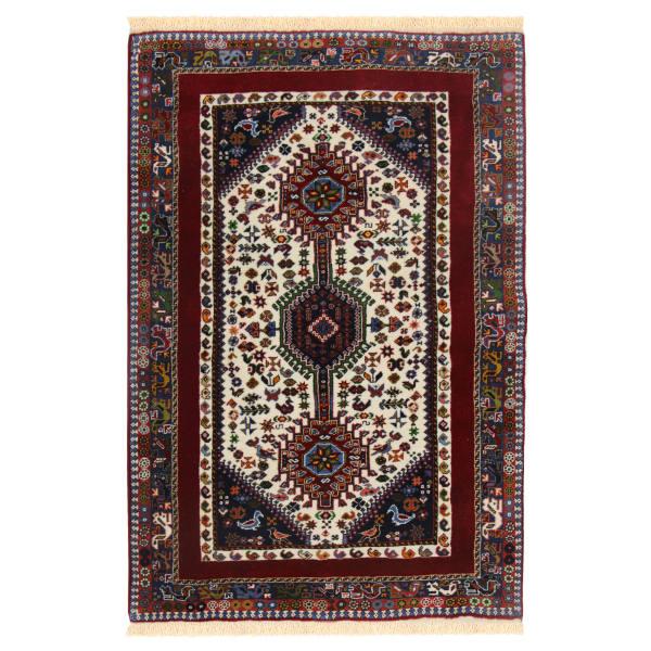 فرش دستبافت یک و نیم متری مدل قشقایی یلمه کد 990705