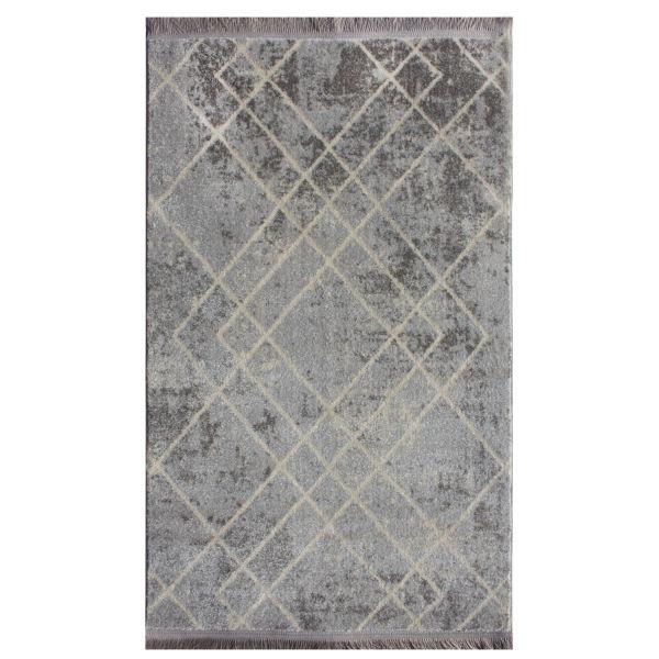 فرش ماشینی نیروانا مدل ویژن کد 2020 زمینه نقره ای