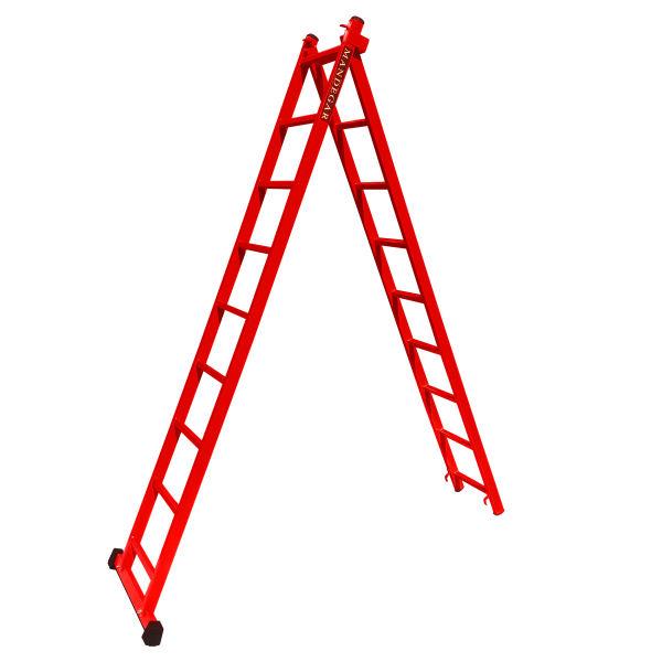 نردبان 18 پله ماندگار مدل صدف به همراه پایه تعادل