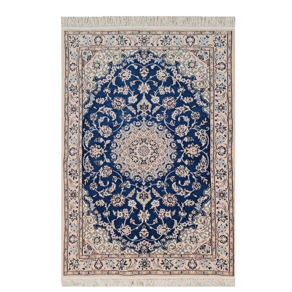 فرش دستبافت یک ونیم متری مدل نایین کد 458