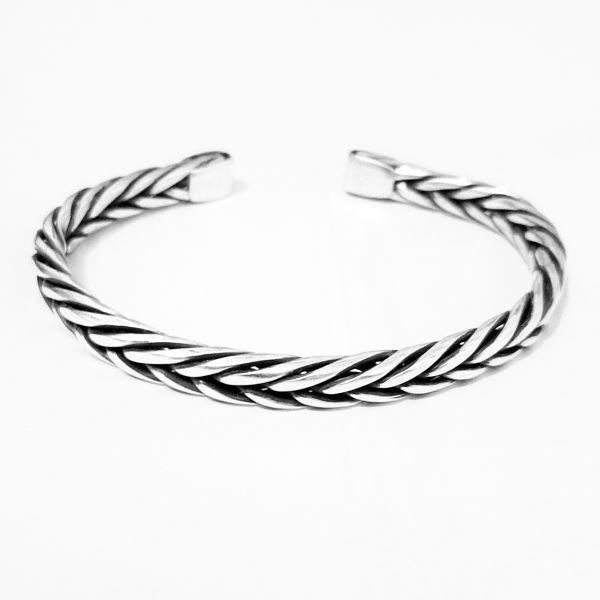 دستبند نقره مردانه مدل H101