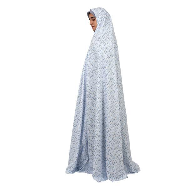 چادر نماز مدل سنتیطرح گندم رنگ آبی
