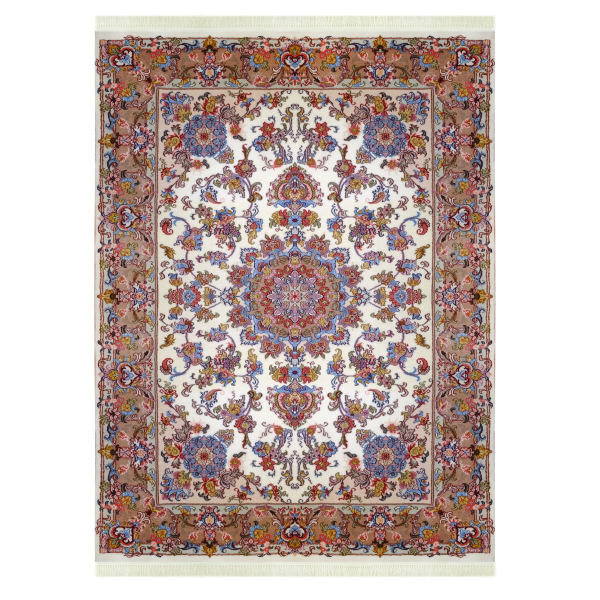 فرش دستباف سه متری مدل لچک ترنج کد 6007