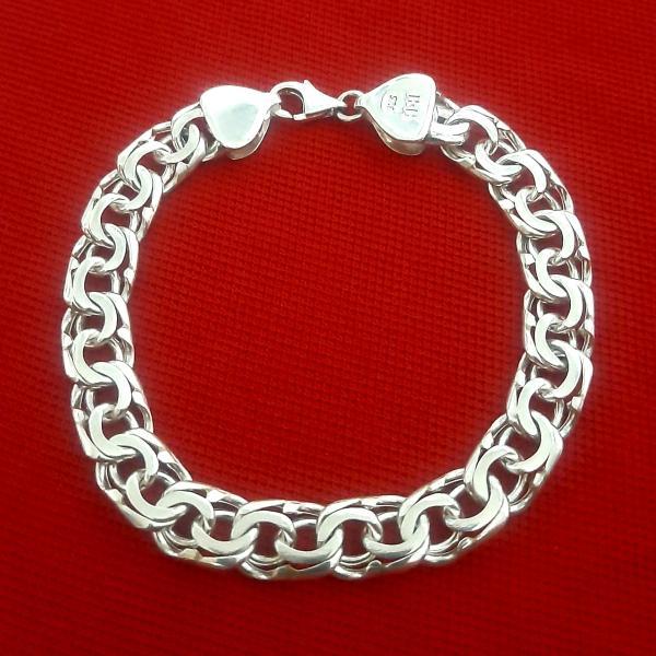 دستبند نقره مردانه کد HN95