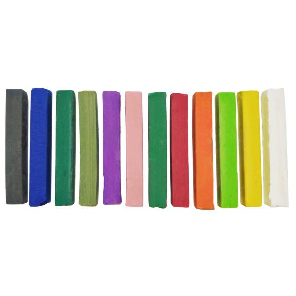 پاستل گچی 12 رنگ جینگهوا کد SP-12