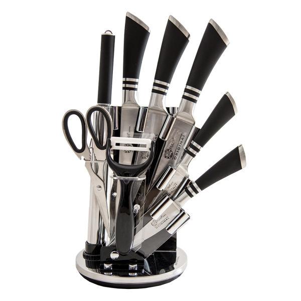 سرویس چاقو آشپزخانه ۹ پارچه فوما مدل FU-633